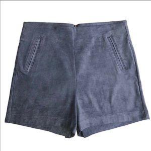 New Dressy Highwaist Apple blue suede shorts.